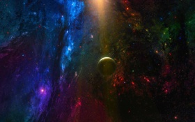 Обои звезды, туманность, планета, Космос, space