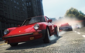 Картинка гонка, полиция, погоня, Porsche, классика, chevrolet corvette, need for speed most wanted 2