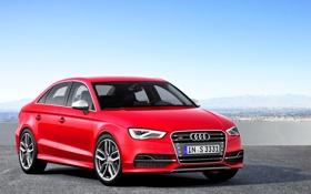 Обои Audi, Ауди, Капот, День, Передок, Красный, Авто