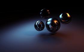 Обои поверхность, шары, фигура, сферы, полые