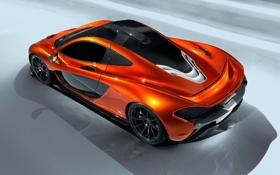 Обои Concept, McLaren, Авто, Машина, Концепт, Оранжевый, Купэ