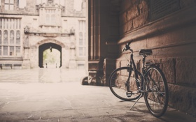 Обои велосипед, город, фото, сепия, Европа