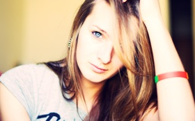 Картинка глаза, взгляд, Девушка, girl