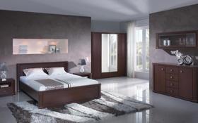 Обои дизайн, спальня, вилла, дом, интерьер, комната, стиль