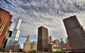 Обои USA, здания, небо, чикаго, высотки, Chicago, illinois