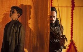 Обои шпага, Blackbeard, Pan, Hugh Jackman, приключения, тень, Пэн: Путешествие в Нетландию