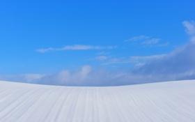 Обои зима, небо, облака, снег, холм