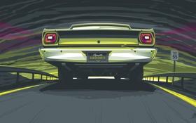 Обои авто, креатив, графика, разное, plymouth, roadrunner