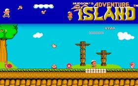 Обои NES, retro, island Adventure, NIntendo