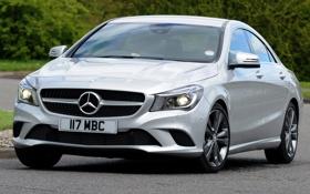 Картинка car, фары, Mercedes-Benz, передок, sedan, CLA 180