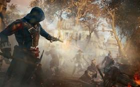 Картинка пистолет, оружие, париж, солдаты, стража, Assassin's Creed Unity, Кредо ассасина