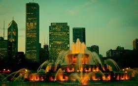 Обои США, город, Иллиноис, Chicago, Чикаго