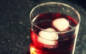 Картинка стол, лёд, Стакан, напиток