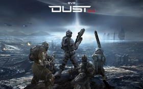 Обои оружие, планета, солдаты, EVE online, DUST 514, MMOFPS