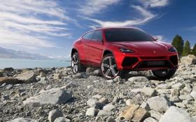 Обои Concept, камни, Lamborghini, джип, концепт, 2012, ламборгини