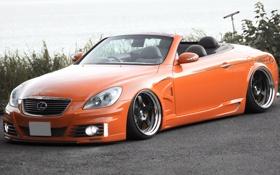 Картинка оранжевый, лексус, тюнинг, sc300, lexus, тачка, кабриолет