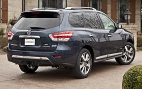 Картинка Nissan, ниссан, Hybrid, задок, Pathfinder, мощный