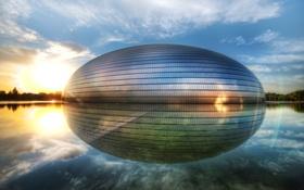 Обои Яйцо, Китай, Пекин, Национальный центр исполнительских искусств, Чжуннаньхай