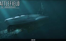 Обои подводная лодка, DICE, юбилей Battlefield, Battlefield 1942