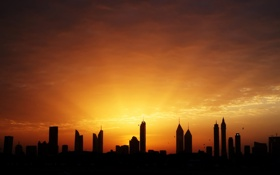 Картинка небо, птицы, Дубай, Zoe Mies Photography, ОАЭ, дома, Объединённые Арабские Эмираты