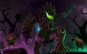 Обои lol, League of Legends, Twisted Treant, Maokai