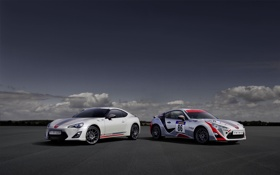 Обои Белый, Машина, Корпус, Toyota, Тойота, GT86, Два