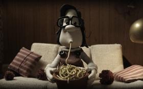 Обои мультфильм, мэри и макс, пластилиновый, спагетти, девочка