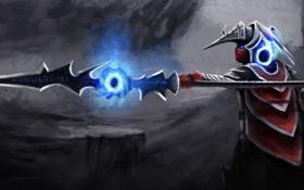 Обои оружие, магия, доспехи, арт, иероглифы, броня
