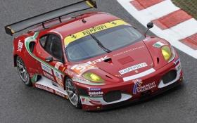 Обои трасса, F430, Ferrari, red, красная, трек, ферари