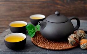 Картинка чай, чашки, заварник