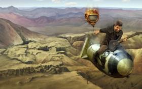 Картинка бомба, полёт, fallout, рок