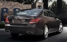 Картинка авто, седан, Hyundai, хёндай, задок, Equus, экус