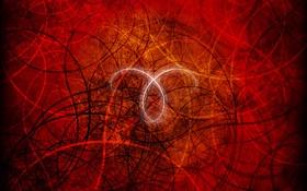 Обои линии, переплетения, красный