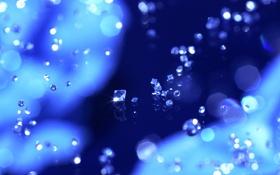 Обои синий, фон, бриллианты, россыпь