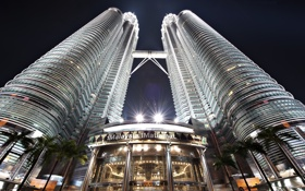 Обои небоскреб, башни, Малайзия, Куала-Лумпур, Петронас