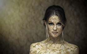 Картинка девушка, стиль, портрет