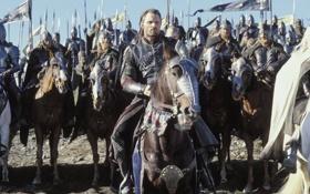 Обои Властелин Колец, всадники, король, войско, Арагорн