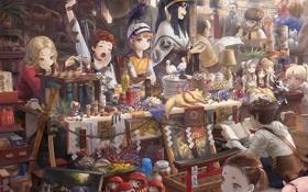 Обои магазин, товары, чудесные, всякой всячины, покупатели, Fairy magazine