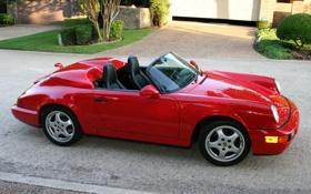 Обои авто, красная, porshe
