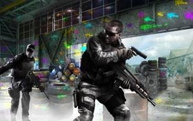 Картинка пистолет, оружие, война, арт, автомат, солдаты, Call of Duty Black Ops 2