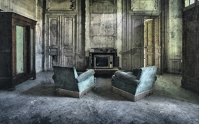 Обои комната, мебель, телевизор