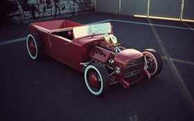 Обои vermelho, hotrod, ford32
