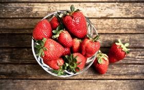 Картинка макро, ягоды, клубника