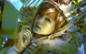 Картинка Лицо, Шлем, Азиатка