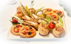 Картинка мини-пицца, еда, тесто