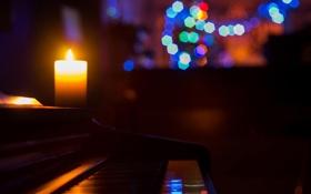 Картинка музыка, свеча, пианино