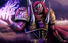 Картинка арт, мужчина, броня, Warhammer 40 000, warhammer 40K, Primarch Magnus the Red, Primarch of the ...