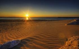 Обои песок, море, вода, солнце, фото, океан, побережье