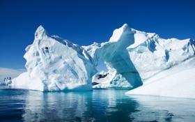 Обои холод, лед, снег, горы, гора, айсберг