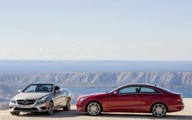 Картинка обои, машины, мерседес, E-Klasse, Cabrio, Coupe, Mercedes-Benz